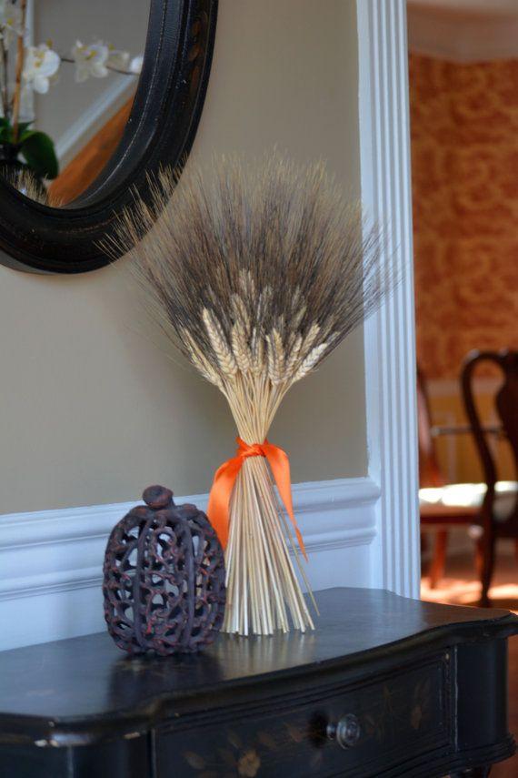 Halloween Decoration Halloween Decor Wheat Sheaf by ElegantWreath