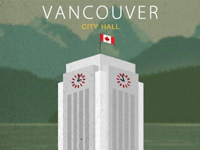 Vancouver City Hall Vector by S. Preston Chuhon