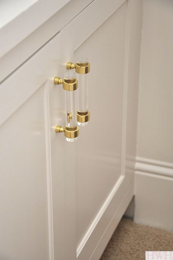 Superieur Lucite And Gold Cabinet Hardware | Honey Weu0027re Home