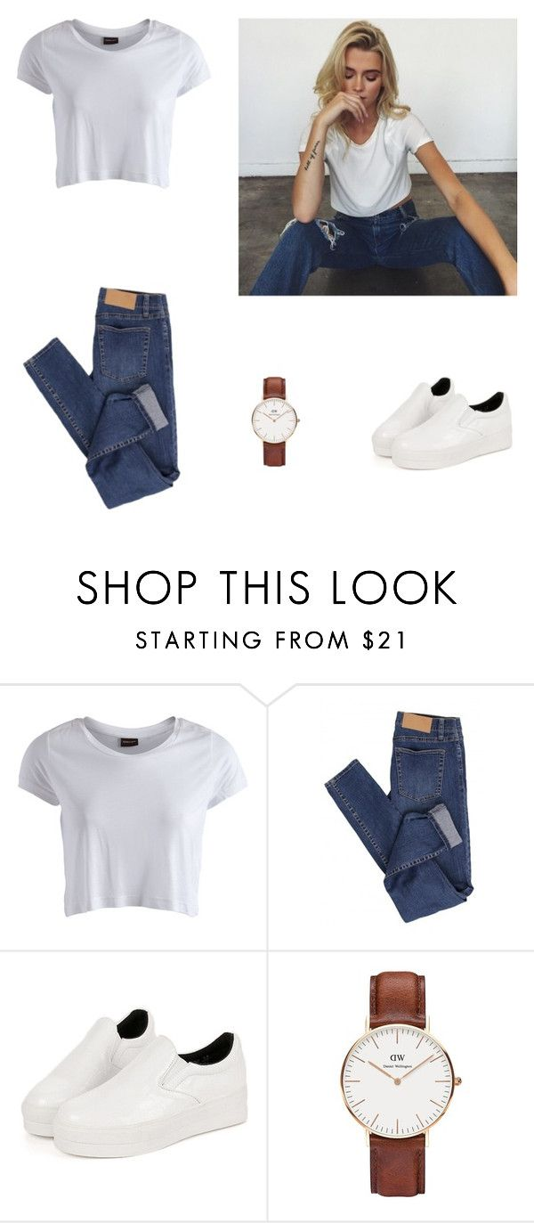 """""""Untitled #445"""" by simplyskie ❤ liked on Polyvore featuring Pieces, Cheap Monday and Daniel Wellington"""