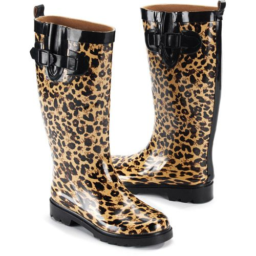 5161ced5d23c Women s Wild Leopard Rain Boots  12.00