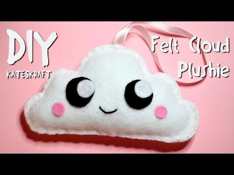 DIY | Kawaii Felt Cloud Plushie - YouTube