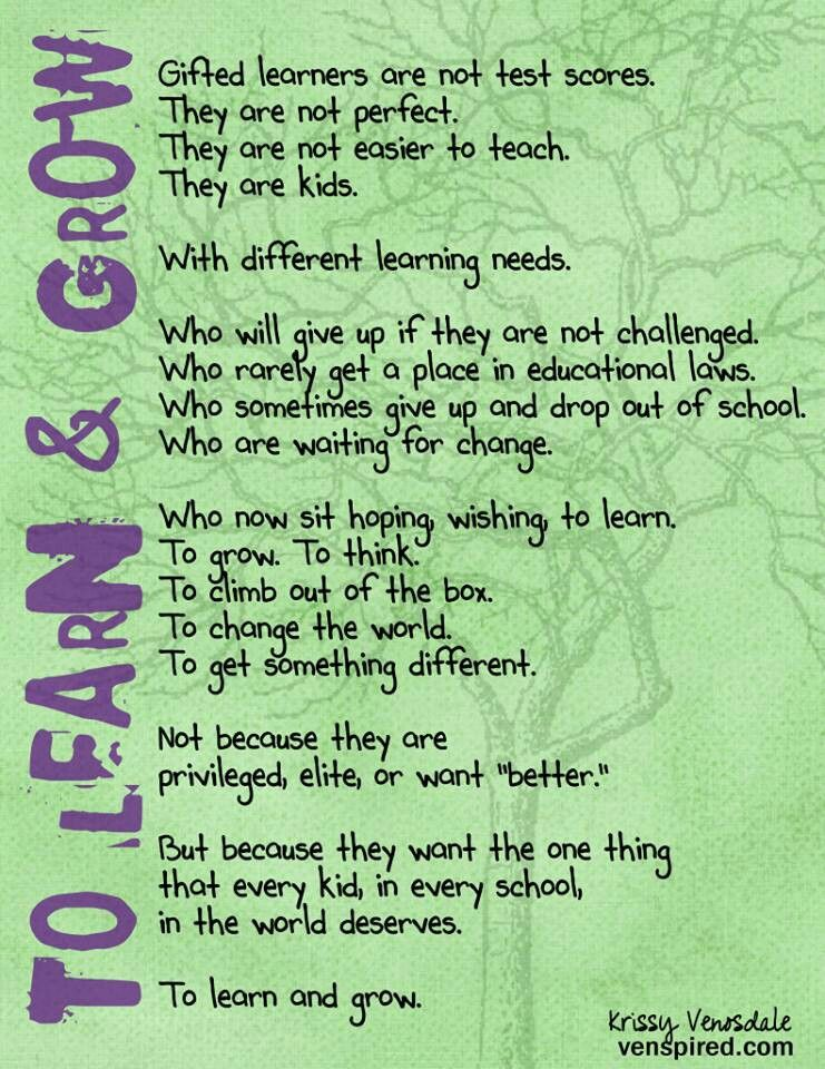 Learn And Grow Teaching Motivation Teacher Quotes Inspirational Teaching Gifted Children
