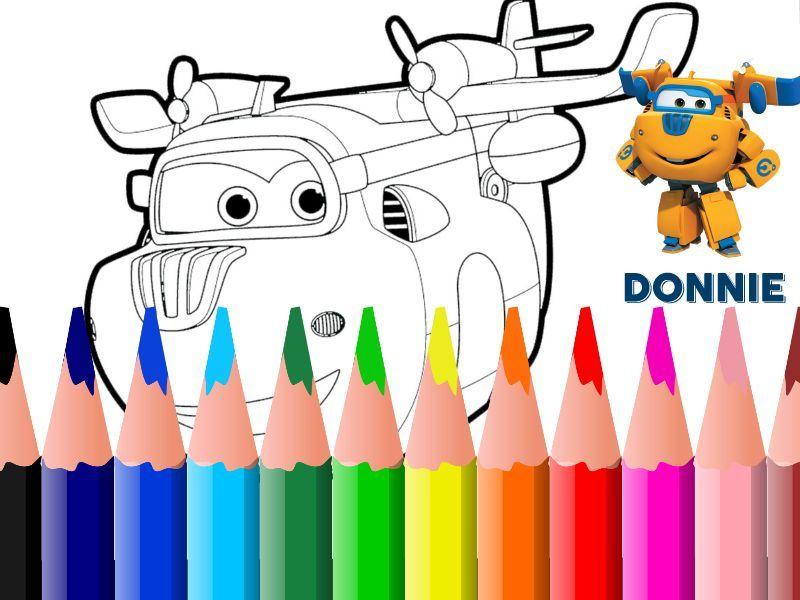 Colora donnie dei super wings disegni da colorare