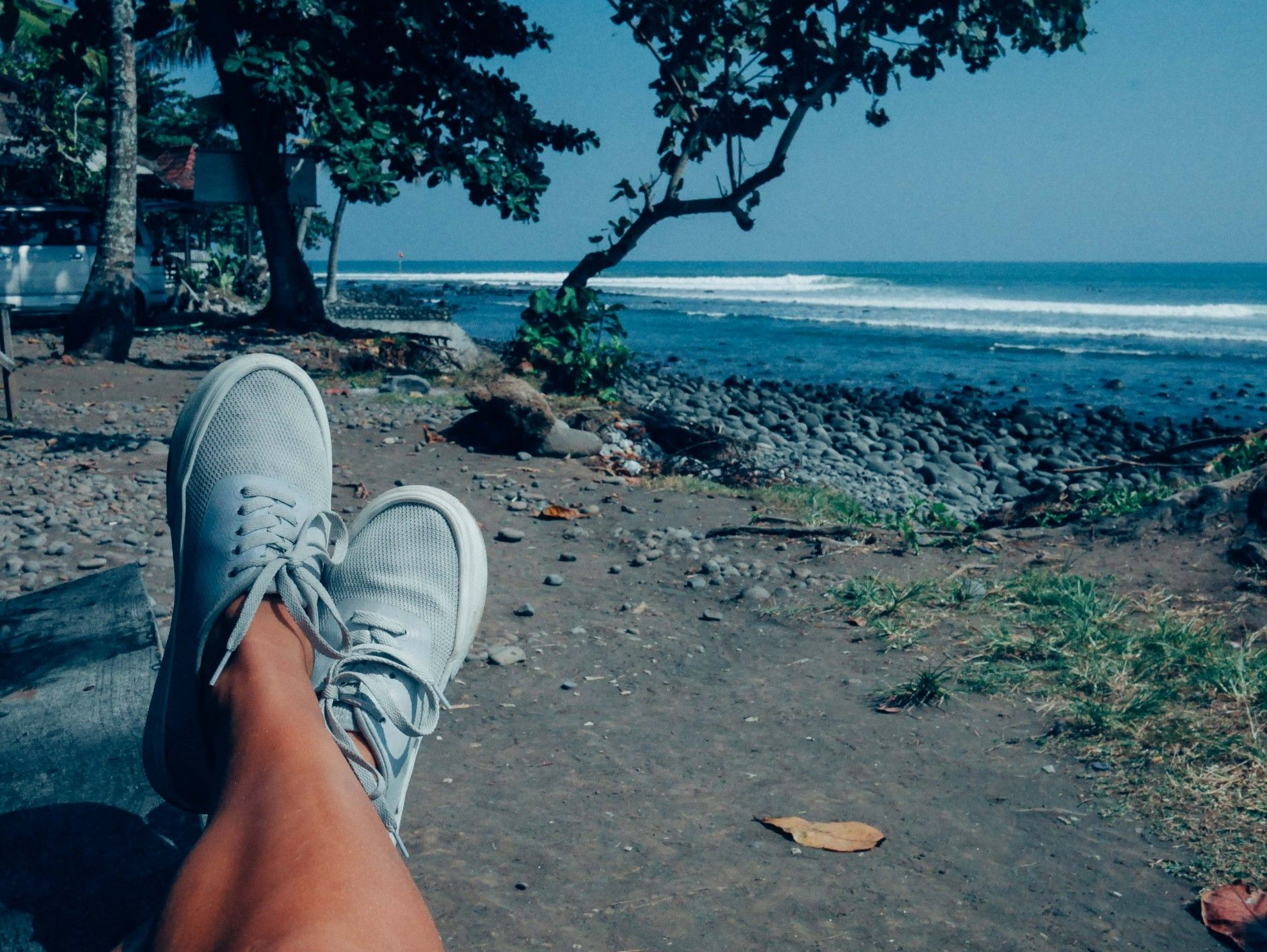 People Footwear — Beaches of Bali, Indonesia #TheStanley in Picket White- Photographer: Caley Vanular