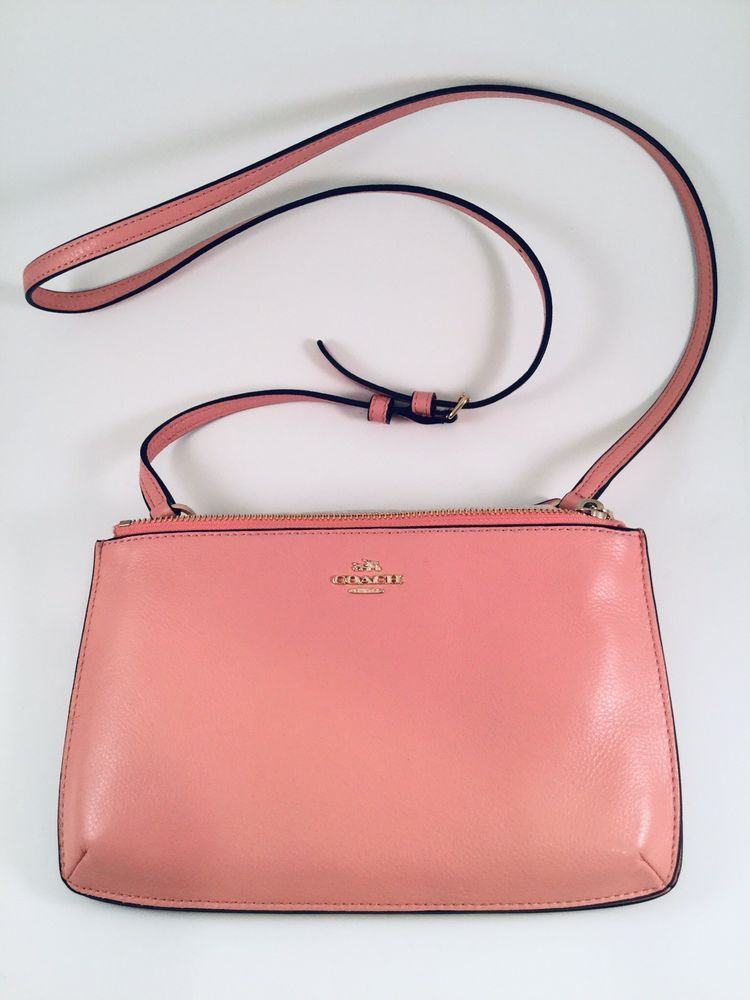 COACH NEW Blush Pink Crossbody Purse Pebble Leather Handbag IM PINK 57135E   Coach  Crossbody 5d89101d8468e