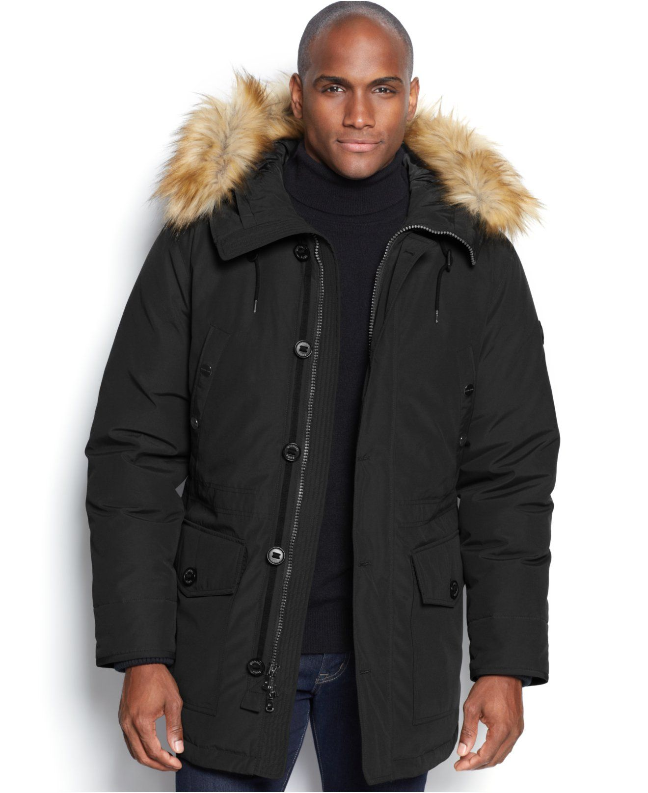 c3a25b5f9f0 MICHAEL Michael Kors Mandal Faux-Fur-Trim Hooded Down Parka - Coats    Jackets - Men - Macy s
