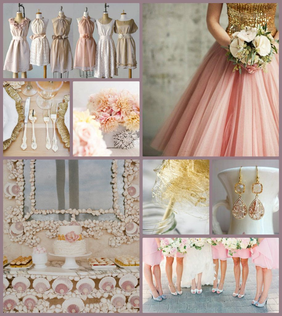 Pair Your Blush Colors Such As Light Pink And Cream With Gold For A Great Gatsby Like Wedding