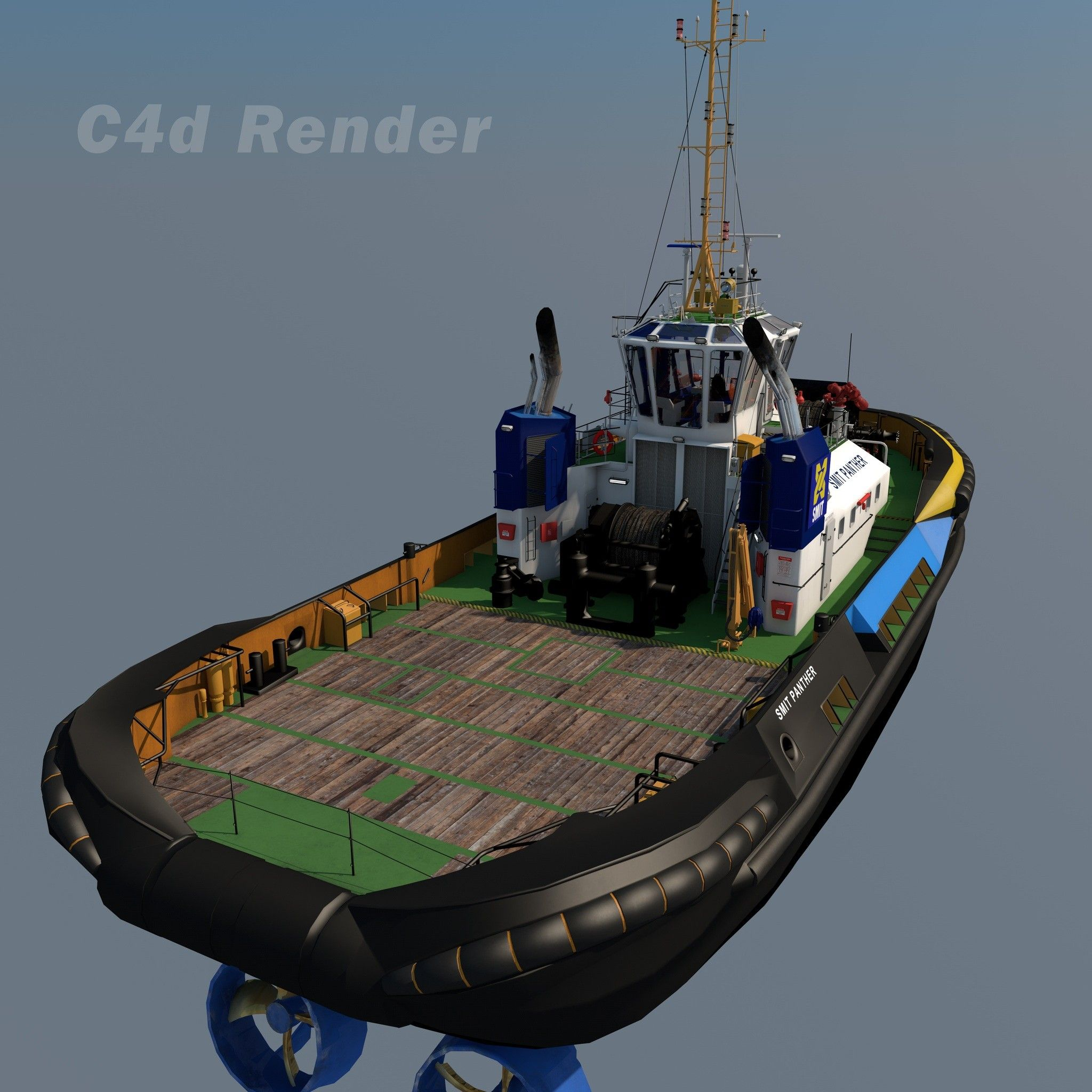 tugboat tug smit 3d model