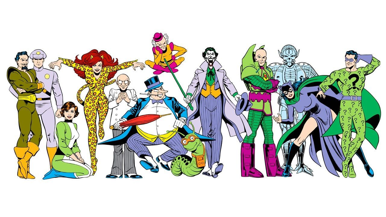 Super Powers: Kru-El, General Zod, Faora Hu-Ul, Cheetah, Dr. Sivana, Penguin, Mr. Mxyzptlk, Mr. Mind, Joker, Lex Luthor, Brainiac, Catwoman, & Riddler by José Luis García-López