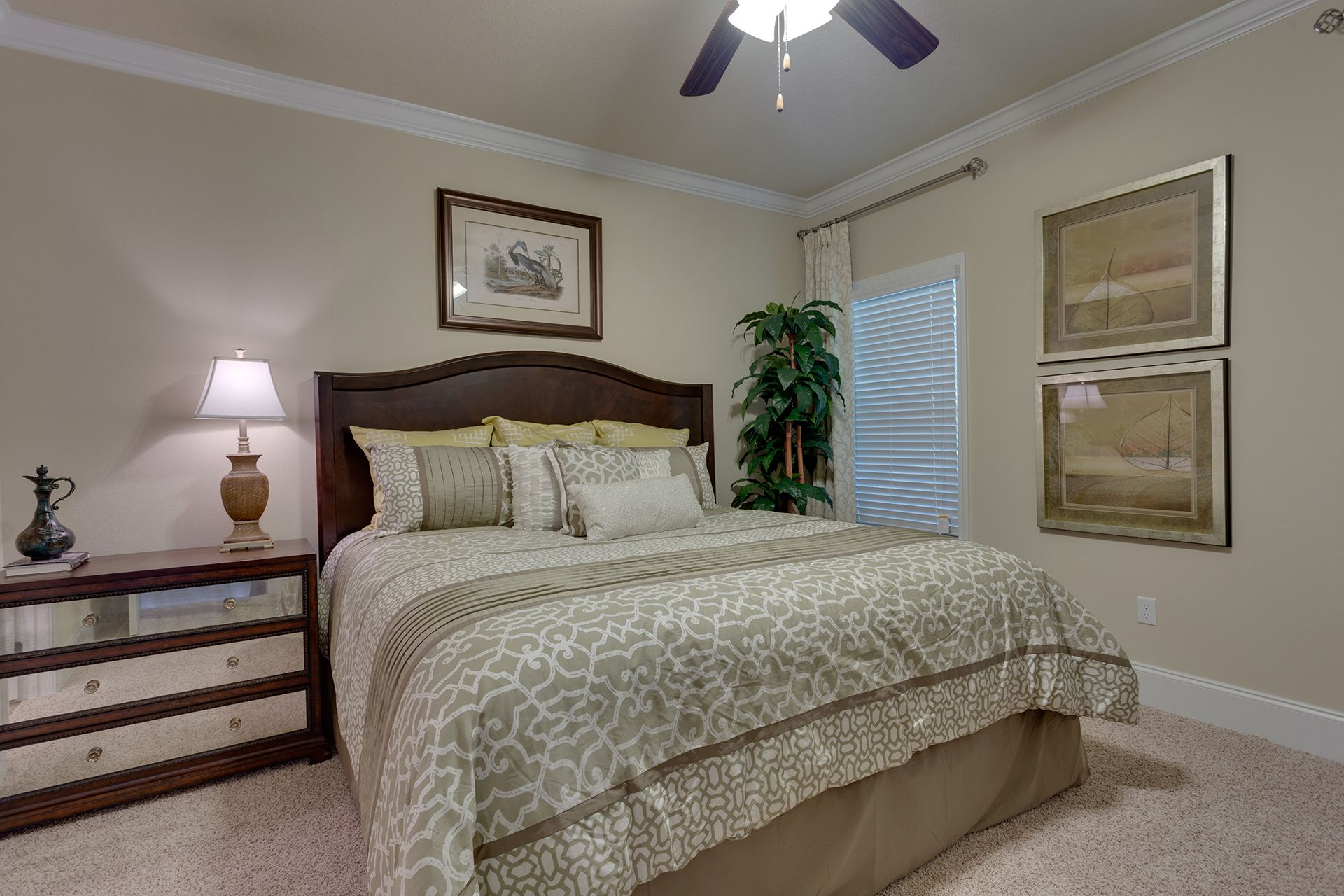 """This """"Alabaster"""" floor plan master bedroom is featured on"""