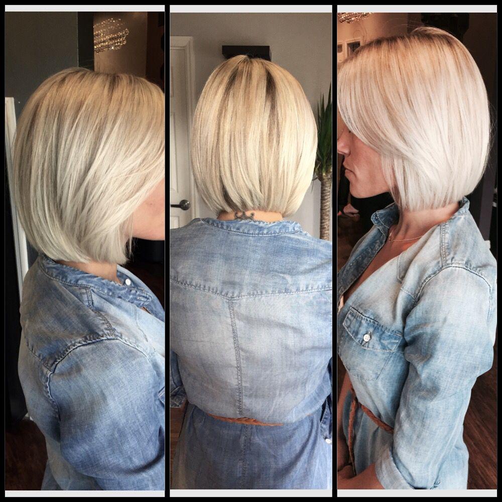 Platinum Blonde Long Bob Lob Haircut Platinum Blonde Short
