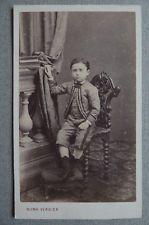 Photo Numa Blanc Carcassonne Cdv Carte De Visite Enfant Vers 1860