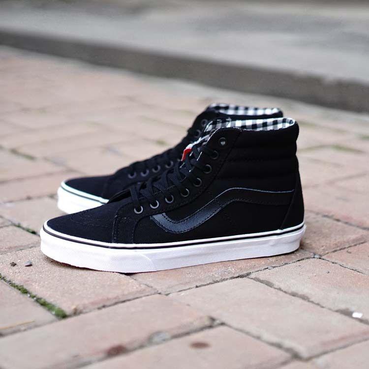42fb26034b Vans Black Suede Fur Inner SK8-Hi Winter Skate Shoe  Vans