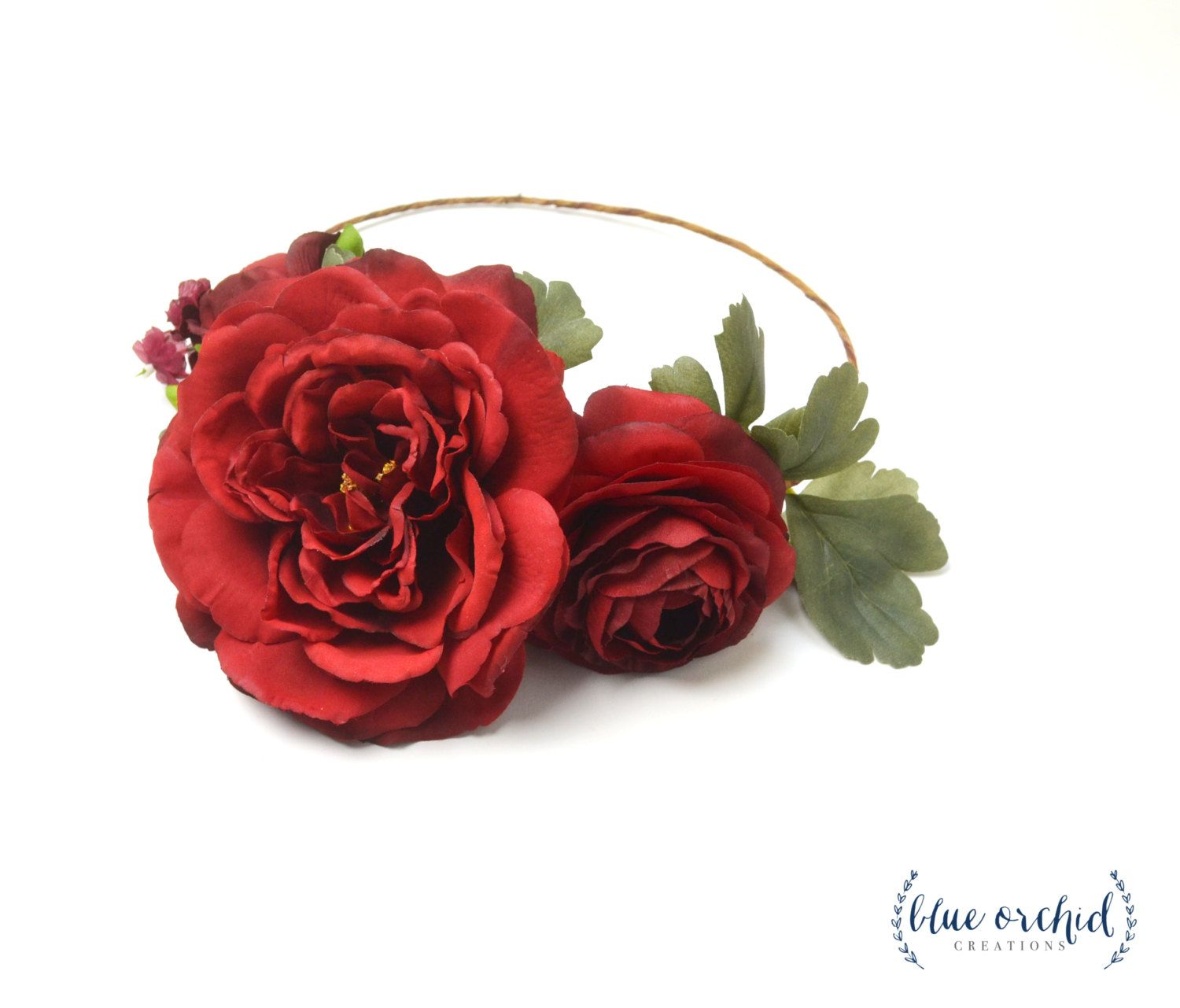 Flower crown red flower crown silk flower crown wedding flower flower crown red flower crown silk flower crown wedding flower crown large izmirmasajfo