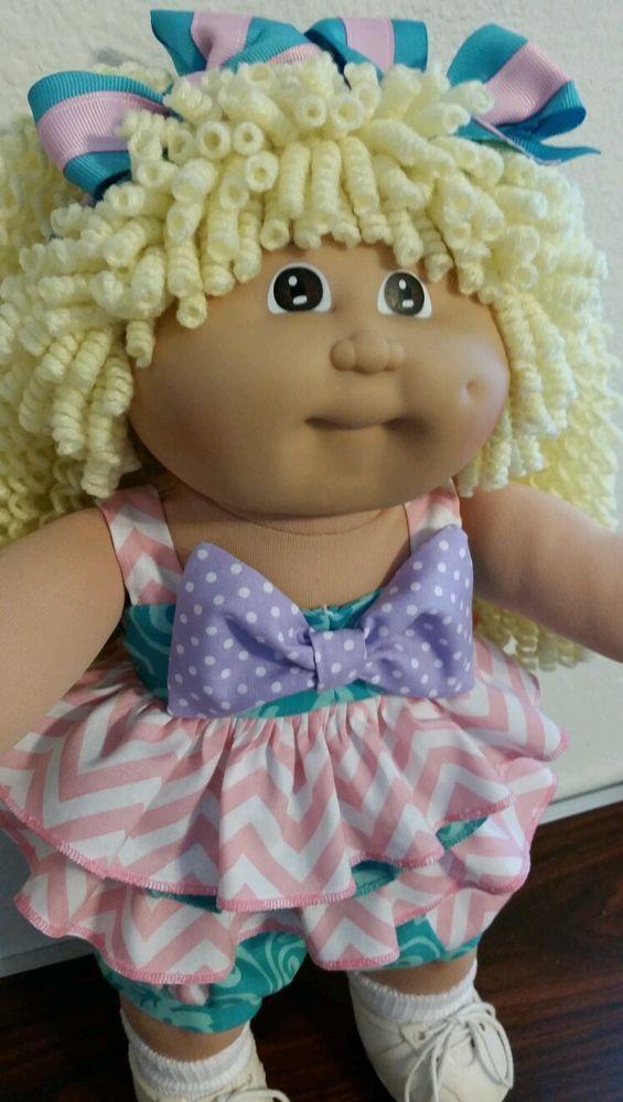 VTG CABBAGE PATCH KIDS #3 GIRL BROWN EYE CUSTOM LEMON PENCIL CURLY ...