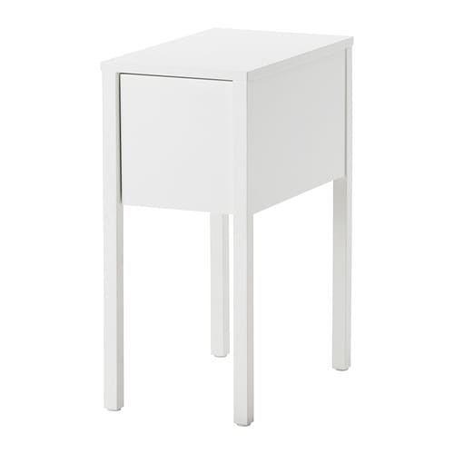 Comodino Ikea Bianco.Nordli Comodino Bianco Casa Lago Bedside Table Ikea