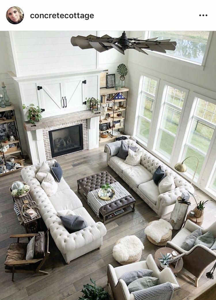 I Love The Layout Of This Living Room Two Couches Parallel Two Chairs Side By Side Contemporar Open Living Room Design Livingroom Layout Open Living Room