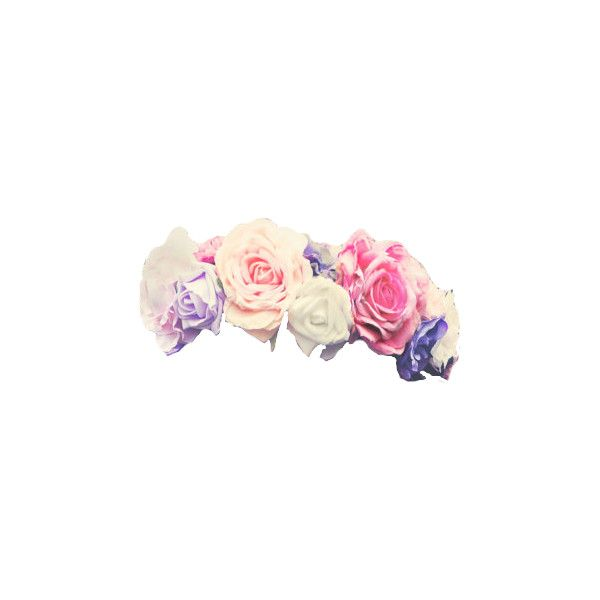 Transparent Flower Crowns Liked On Polyvore Featuring Accessories Hair Accessories Flower Crowns Fill Transparent Flowers Flower Crown Flower Garland Hair