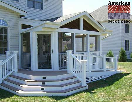 Sunroom American Deck Inc Custom Builders Sunrooms Patios Trex Composite