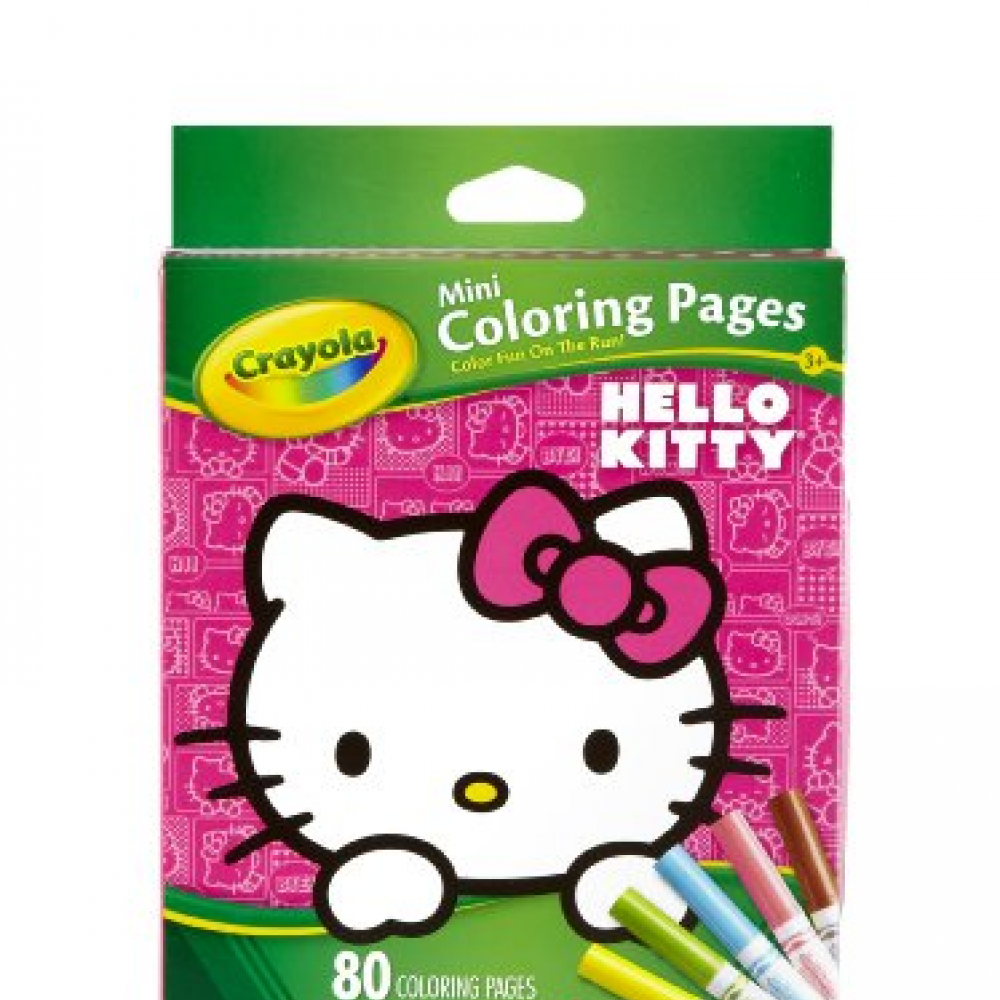 Crayola Hello Kitty Mini Coloring Pages World Of Hello Kitty Hello Kitty Kitty Coloring Pages