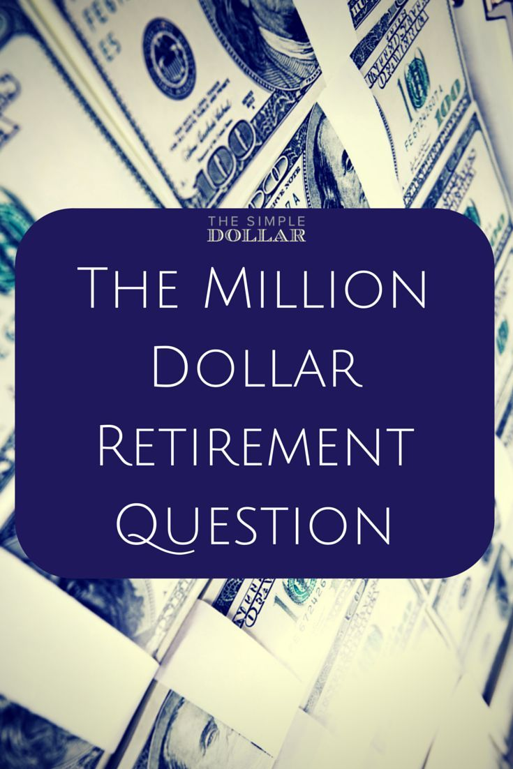 The Million Dollar Retirement Question The Simple Dollar This Or That Questions Saving For Retirement Personal Finance Books