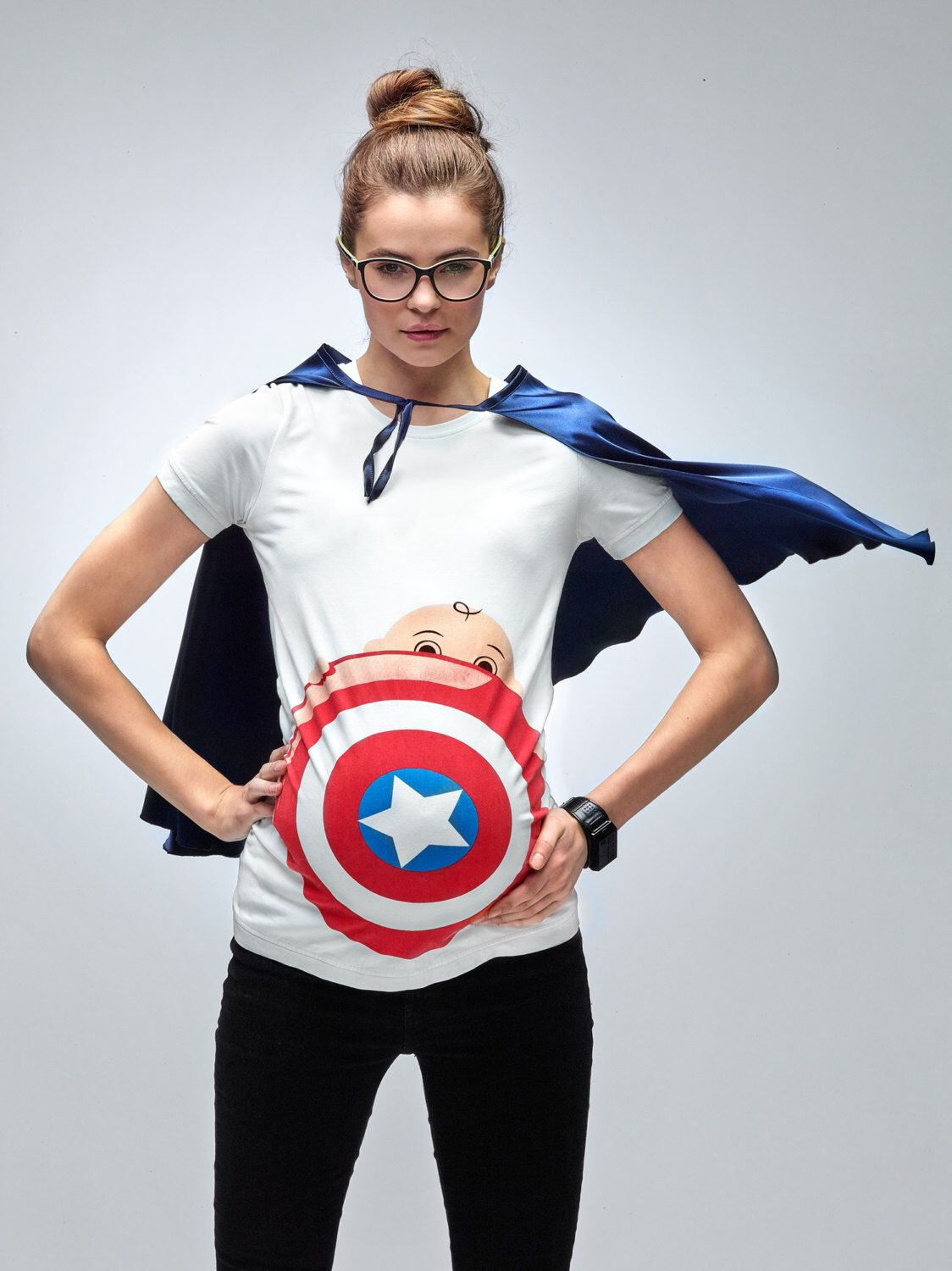 1d1fdd3692824 My Superhero Maternity New Captain America T-Shirt by Mamagama Pregnancy  Store by Mamagamaworld on