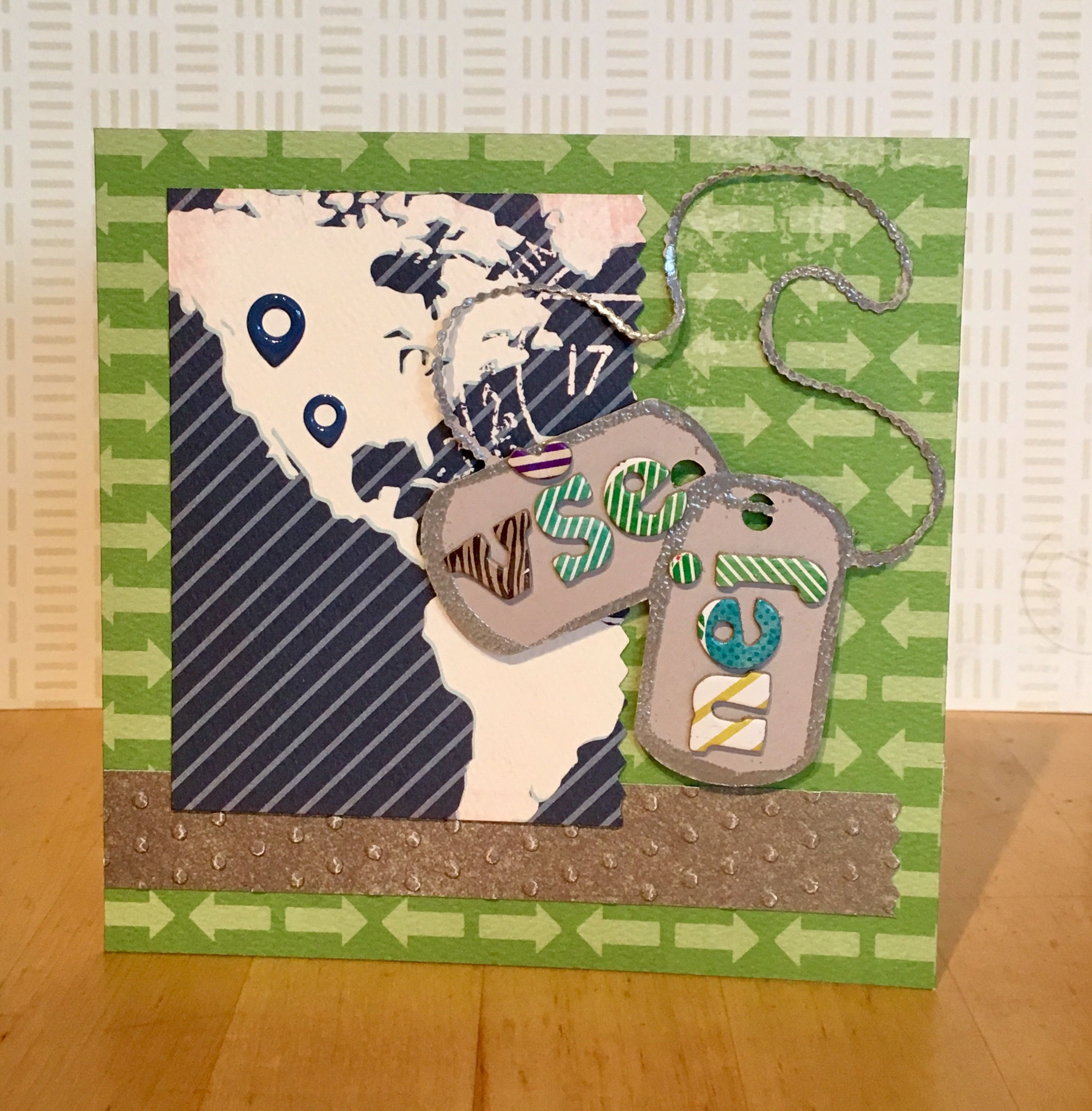 Birthday Card Army Style Dog Tags Rencici Cards Pinterest