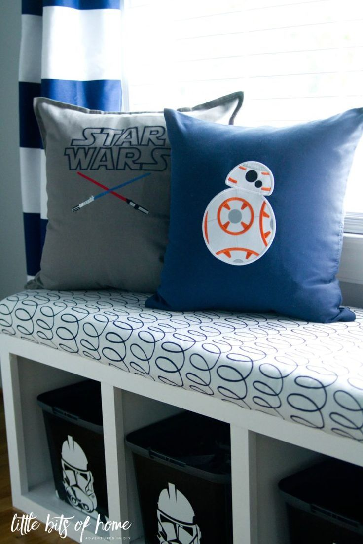 Star Wars Big Boy Room- Little Bits of Home. Pillows from Zigzagz ...