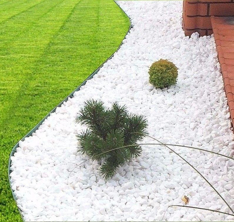 Decorative Stones Marble Extra White Chippings Aggregate Landscape Garden Garden Patio White Landscaping Rock Landscaping With Rocks Stone Landscaping