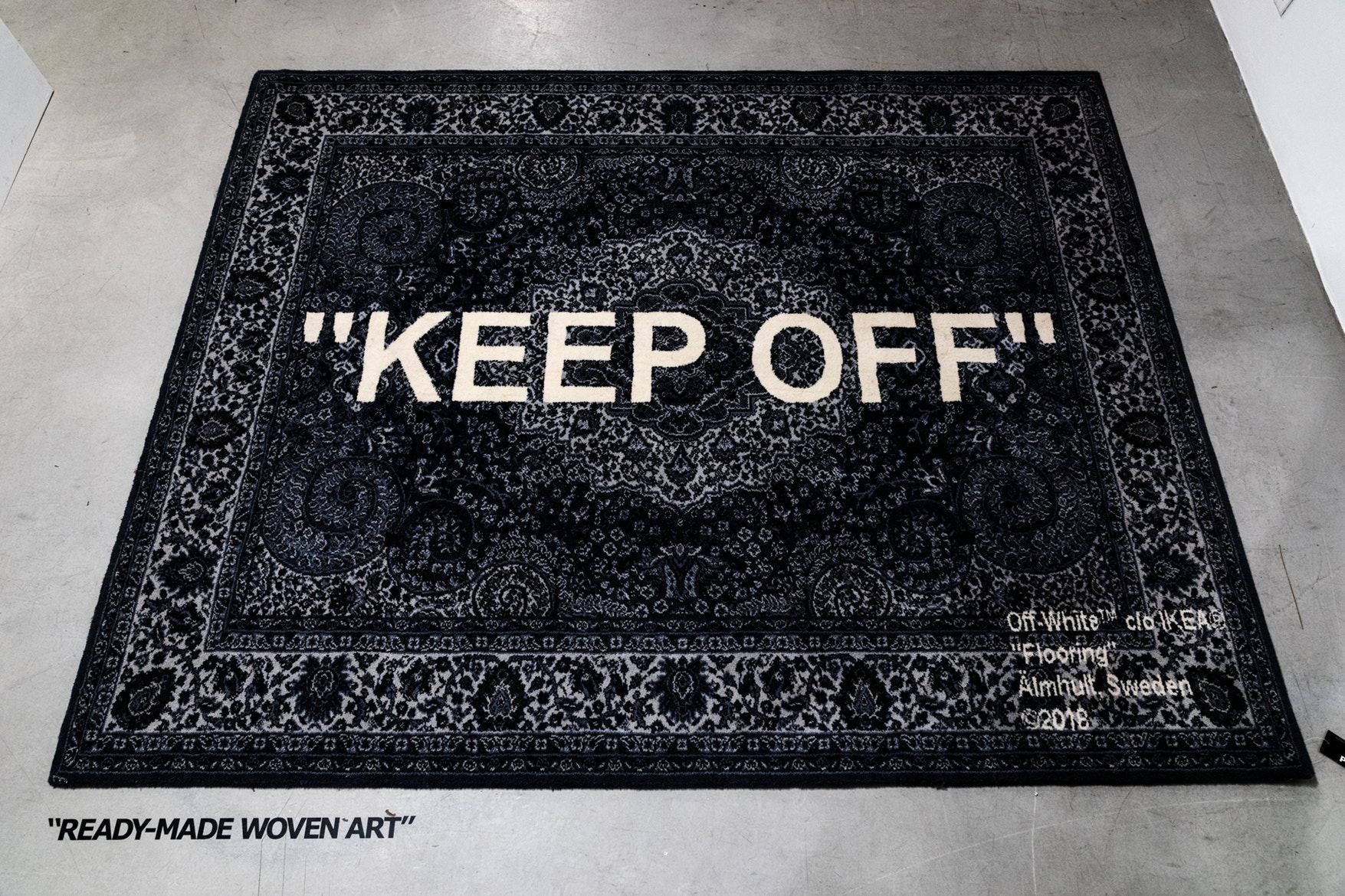 Ikea Virgil Abloh Off White Collaboration Furniture Home Keep Rug Carpet