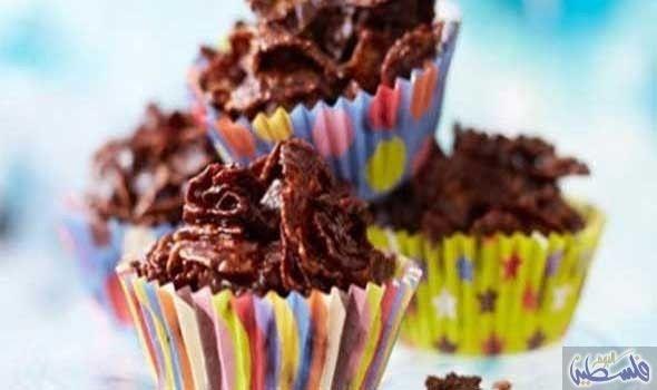 شوكولاتة بالكورن فليكس Chocolate Cornflake Cakes Food Cornflake Cake