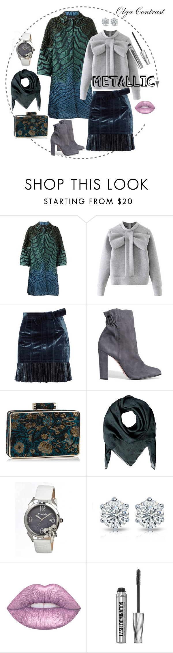 """14.11.2016"" by olgacontrast on Polyvore featuring мода, Alberta Ferretti, WithChic, 3.1 Phillip Lim, Schutz, The Kooples, Bertha и Bare Escentuals"