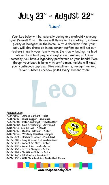 leo babies astrology