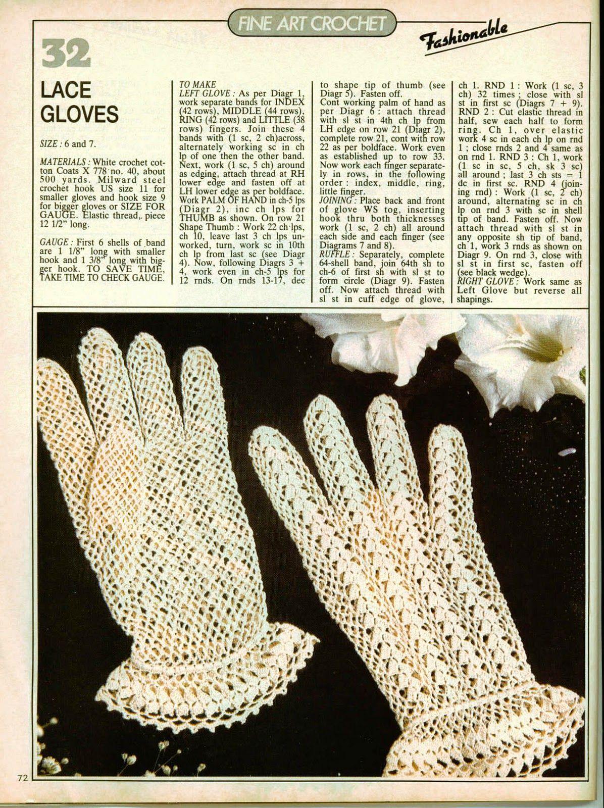 Crochet Gloves Free Pattern | *** Beautiful FREE Crochet Patterns ...