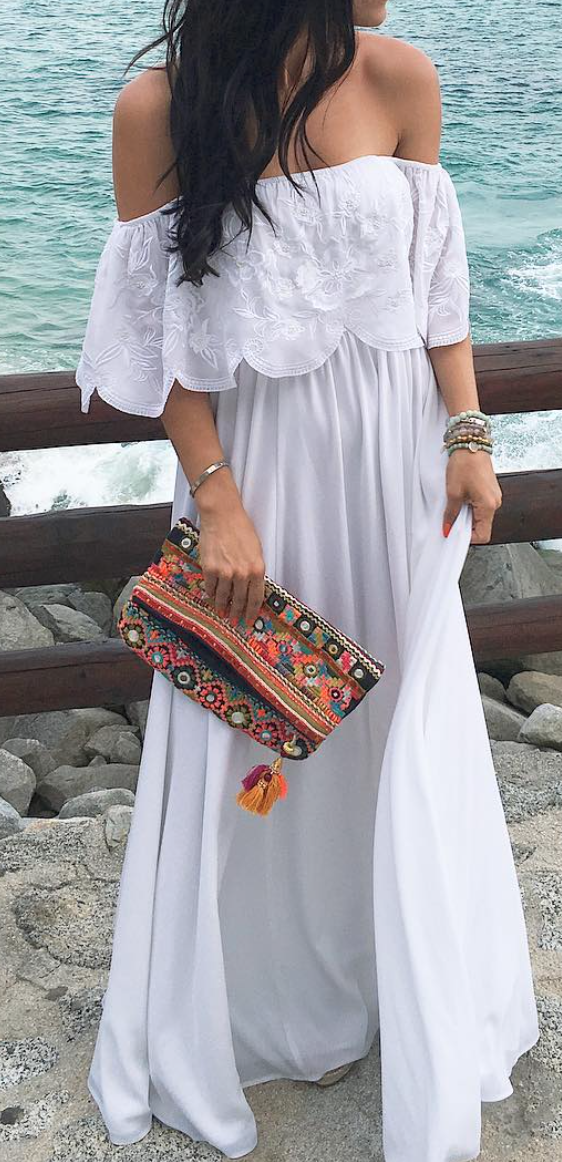 Off shoulder maxi. Off shoulder maxi Lace Maxi Dresses, White Maxi Dress  Casual, Bohemian ... e40ec55f49