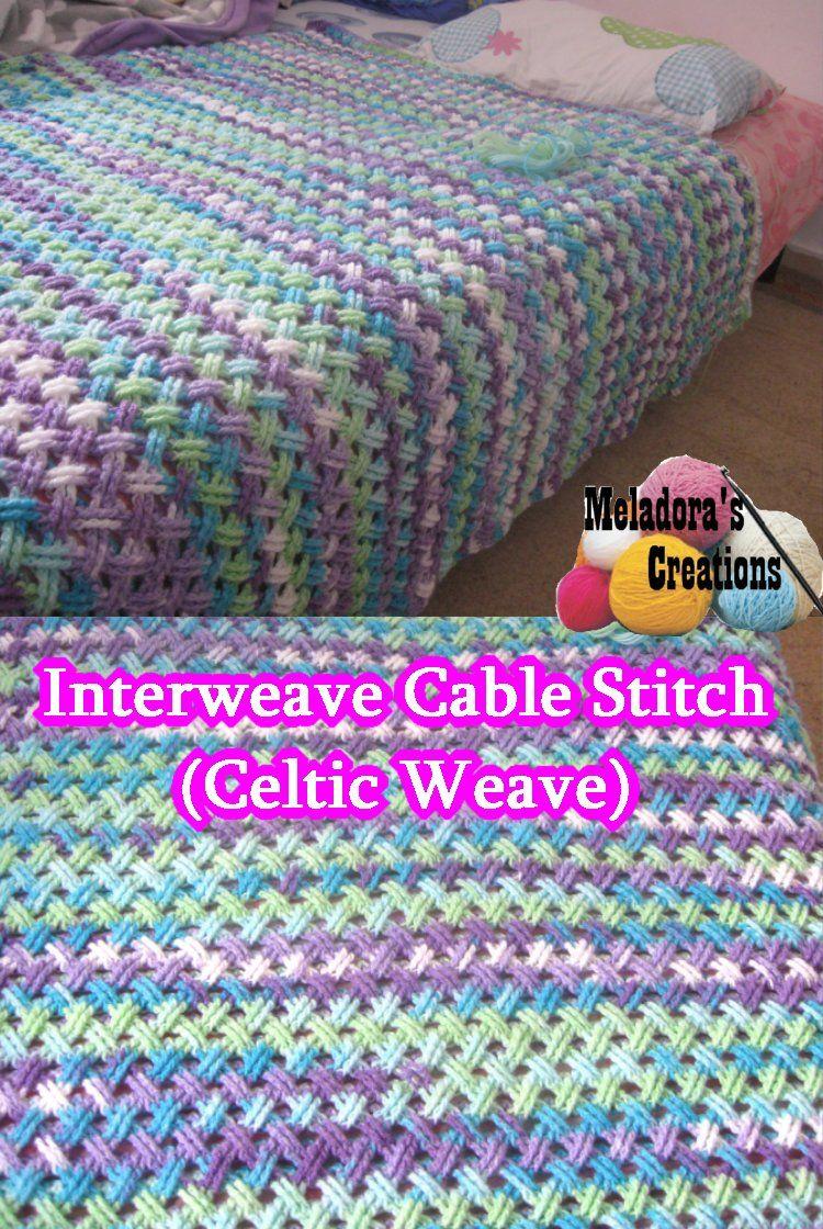 Interweave Cable Stitch - Free Crochet Pattern | Pinterest | Free ...