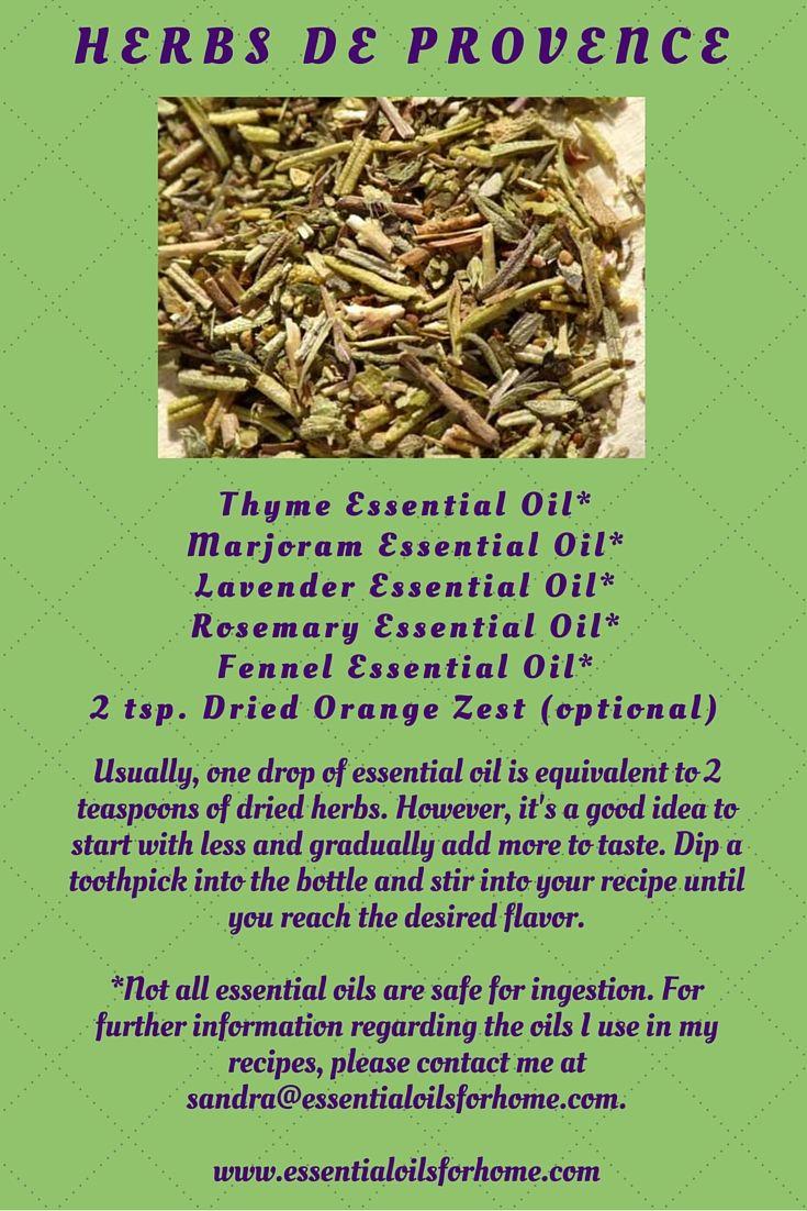 Herbs de Provence Essential Oil Blend* #herbs