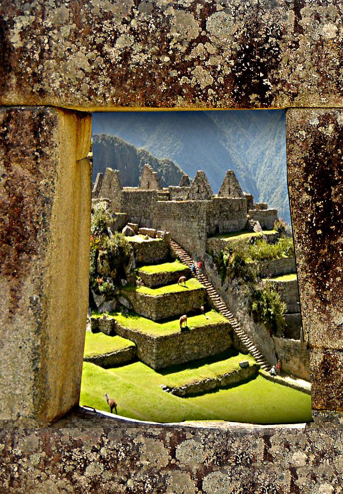 Once inhabited by many, partial structures remain and maintain such a historical value to be admired by all.  Even now, life exists upon and around this fallen city.  For if one walks upon and natural stairway, one will hear sounds of long ago.   Machu Picchu - Perú