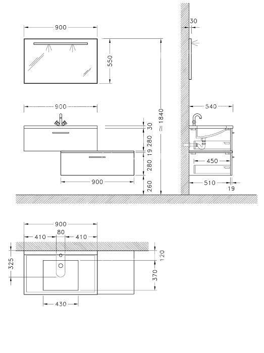 Dimension Standard Lavabo Salle De Bain Novocom Top