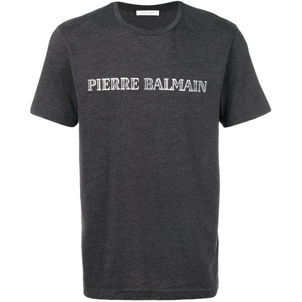 ae4d7db4 Pierre Balmain Logo Printed T-Shirt ($200) ❤ liked on Polyvore featuring  men's