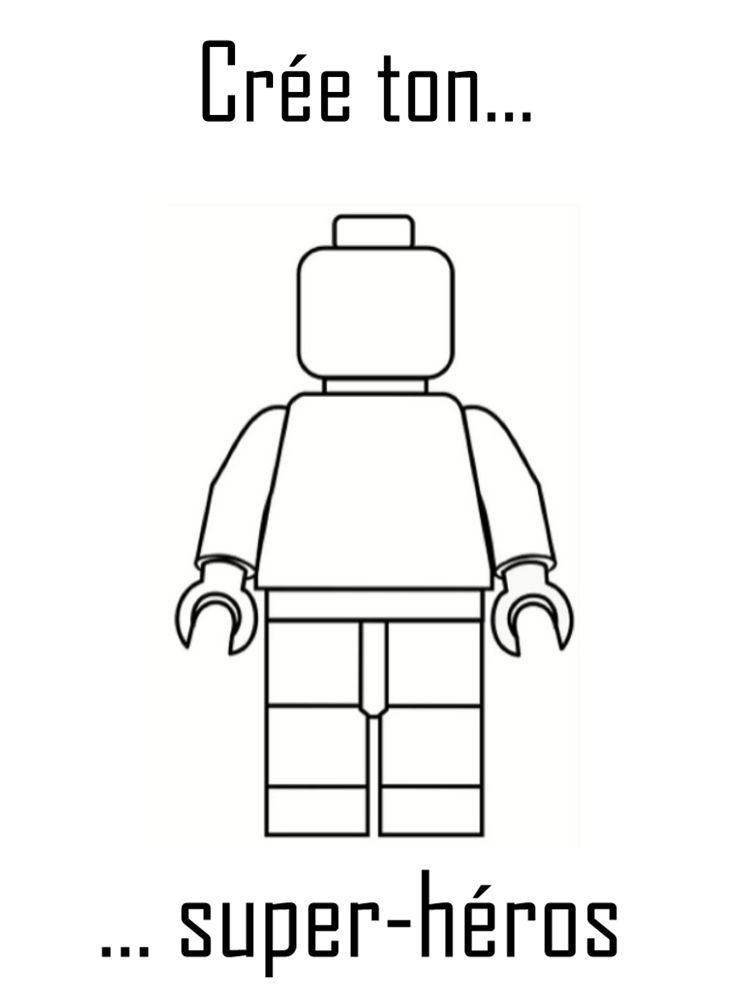 Pour imprimer un coloriage lego chez vous il vous suffit - Dessin de lego ...