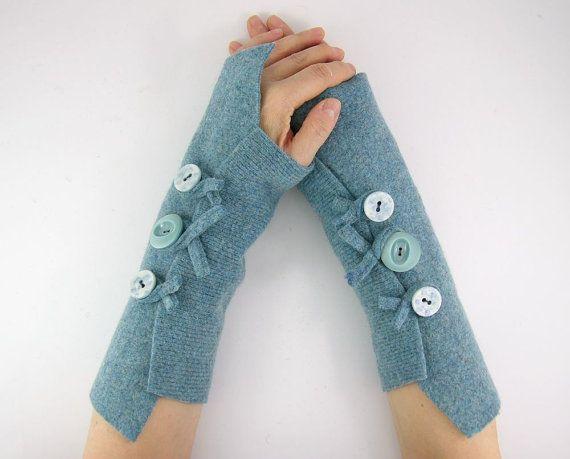 guanti senza dita braccio scalda i guanti senza dita braccio polsini luce blu lana riciclata caduta eco amichevole tagt squadra teamt