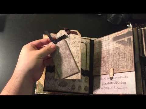 Tim Holtz Wallflower 6x8 Mini Album Share! - YouTube