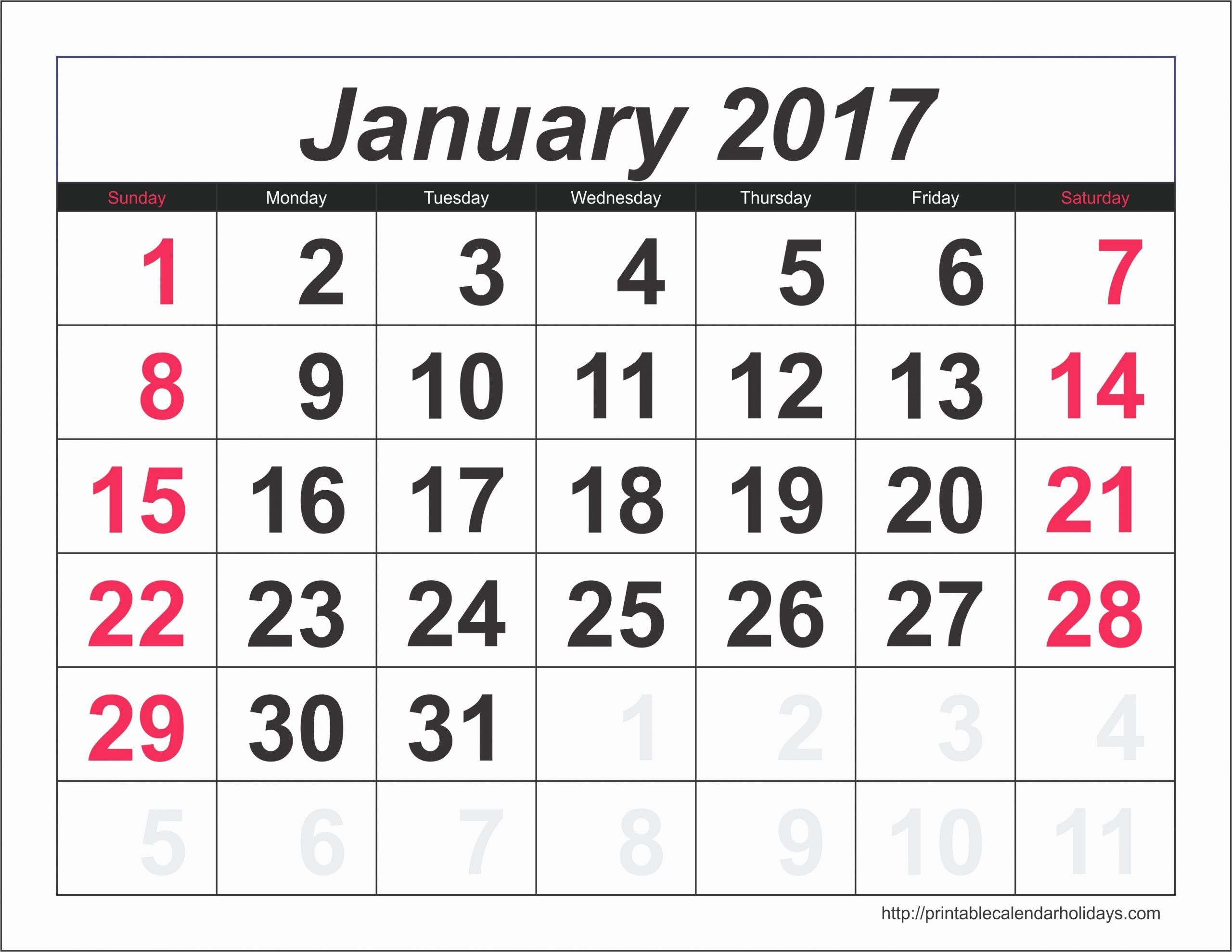 Photo Calendar Template 2017 Unique January 2017 Calendar 6