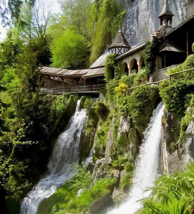 Amazing Places To Stay Switzerland: Monastery At The St. Beatus Caves, Switzerland.