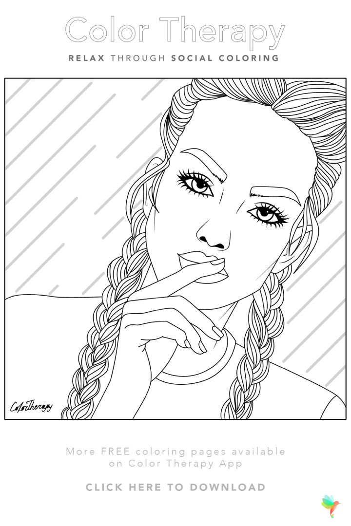 Free Coloring Page Created By Colortherapyapp Print The Page Or Try Coloring In Our App Today Just Follow The Image Link Gotd Colori Kleurplaten Tekenen