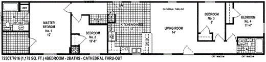 Single Wide Mobile Home Floor Plan Spring View 725ct Mobile Home Floor Plans Single Wide Mobile Homes Remodeling Mobile Homes