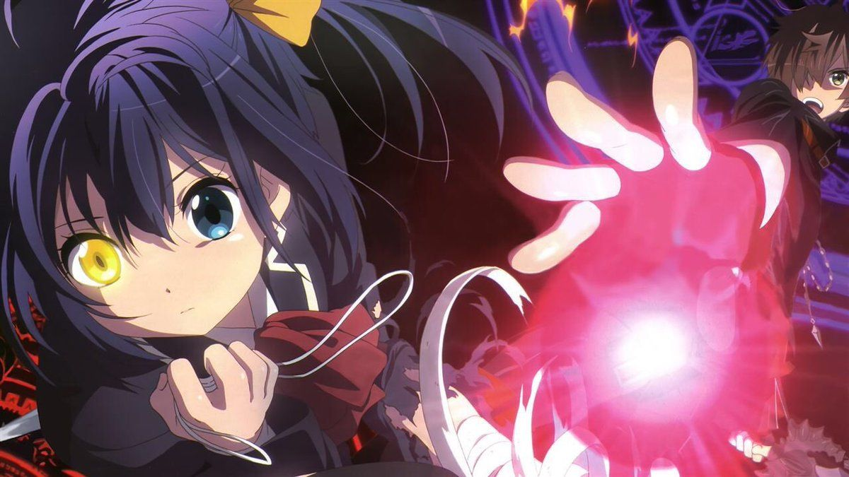 漆黒の刃 xturugi 中二病 イラスト アニメの女の子