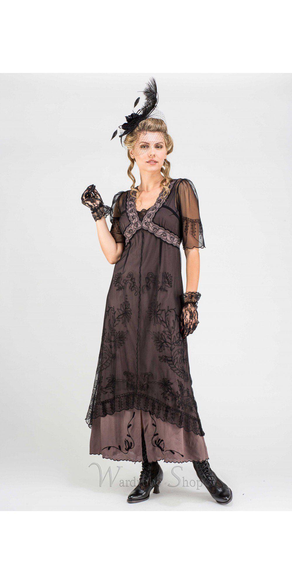 New Vintage Titanic Tea Party Dress In Black Coco By Nataya Tea Party Dress Romantic Dress Titanic Dress [ 2000 x 1000 Pixel ]